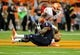 Oct 5, 2013; Syracuse, NY, USA; Syracuse Orange running back Ashton Broyld (1) reacts after dropping a pass during the third quarter against the Clemson Tigers at the Carrier Dome.  Clemson defeated Syracuse 49-14.  Mandatory Credit: Rich Barnes-USA TODAY Sports