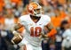 Oct 5, 2013; Syracuse, NY, USA; Clemson Tigers quarterback Tajh Boyd (10) drops back to pass during the second quarter against the Syracuse Orange at the Carrier Dome.  Clemson defeated Syracuse 49-14.  Mandatory Credit: Rich Barnes-USA TODAY Sports