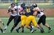 Oct 5, 2013; Kent, OH, USA; Northern Illinois Huskies quarterback Jordan Lynch (6) against the Kent State Golden Flashes at Dix Stadium. Northern Illinois beat Kent State 38-24. Mandatory Credit: Ken Blaze-USA TODAY Sports