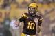 Sep 5, 2013; Tempe, AZ, USA; Arizona State Sun Devils quarterback Taylor Kelly (10) during the game against the Sacramento State Hornets at Sun Devil Stadium. Mandatory Credit: Matt Kartozian-USA TODAY Sports