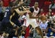 Oct 5, 2013; Houston, TX, USA; Houston Rockets center Dwight Howard (12) controls the ball during the first quarter against the New Orleans Pelicans at Toyota Center. Mandatory Credit: Troy Taormina-USA TODAY Sports