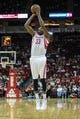 Oct 5, 2013; Houston, TX, USA; Houston Rockets small forward Robert Covington (33) shoots during the third quarter against the New Orleans Pelicans at Toyota Center. Mandatory Credit: Troy Taormina-USA TODAY Sports