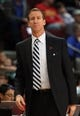 Oct 11, 2013; Boise, ID, USA; Trail Blazers head coach Terry Stotts during the first half against the Utah Jazz at CenturyLink Arena. Mandatory Credit: Brian Losness-USA TODAY Sports