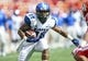Oct 12, 2013; Houston, TX, USA; Memphis Tigers running back Brandon Hayes (38) runs with the ball during the first quarter against the Houston Cougars at BBVA Compass Stadium. Mandatory Credit: Troy Taormina-USA TODAY Sports