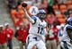 Oct 12, 2013; Houston, TX, USA; Memphis Tigers quarterback Paxton Lynch (12) attempts a pass during the first quarter against the Houston Cougars at BBVA Compass Stadium. Mandatory Credit: Troy Taormina-USA TODAY Sports