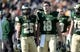 Oct 12, 2013; Fort Collins, CO, USA; Colorado State Rams quarterback Garrett Grayson (18) and wide receiver Joe Hansley (25) await to leave the field following the first half against the San Jose State Spartans at Hughes Stadium. Mandatory Credit: Ron Chenoy-USA TODAY Sports