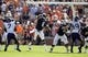 Oct 12, 2013; Auburn, AL, USA; Auburn Tigers quarterback Jeremy Johnson (6) throws a pass against the Western Carolina Catamounts during the second half at Jordan Hare Stadium.  The Tigers beat the Catamounts 62-3.  Mandatory Credit: John Reed-USA TODAY Sports