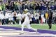 Oct 12, 2013; Seattle, WA, USA; Oregon Ducks running back Byron Marshall (9) tosses the ball after running in for a touchdown against the Washington Huskies at Husky Stadium. Oregon defeated Washington 45-24. Mandatory Credit: Steven Bisig-USA TODAY Sports