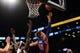 Oct 12, 2013; Brooklyn, NY, USA; Detroit Pistons power forward Jonas Jerebko (33) puts up a layup against the Brooklyn Nets during the first half of the preseason game at Barclays Center. Mandatory Credit: Joe Camporeale-USA TODAY Sports