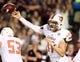 Oct 12, 2013; Starkville, MS, USA; Bowling Green Falcons quarterback Matt Johnson (11) passes against the Mississippi State Bulldogs at Davis Wade Stadium. Mandatory Credit: Marvin Gentry-USA TODAY Sports