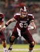 Oct 12, 2013; Starkville, MS, USA; Mississippi State Bulldogs offensive lineman Dillon Day during the game against the Bowling Green Falcons at Davis Wade Stadium. The Bulldogs defeated the Falcons 21-20. Mandatory Credit: Marvin Gentry-USA TODAY Sports