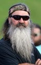 Sep 12, 2013; Ruston, LA, USA; Television personality Phil Robertson before the Louisiana Tech Bulldogs game against the Tulane Green Wave at Joe Aillet Stadium. Mandatory Credit: Chuck Cook-USA TODAY Sports