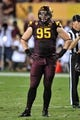 Sep 28, 2013; Tempe, AZ, USA; Arizona State Sun Devils defensive end Gannon Conway (95) during the game against the USC Trojans at Sun Devil Stadium. Mandatory Credit: Matt Kartozian-USA TODAY Sports