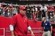 Sep 15, 2013; Phoenix, AZ, USA; Arizona Cardinals head coach Bruce Arians  during the game against the Detroit Lions at University of Phoenix Stadium. Mandatory Credit: Matt Kartozian-USA TODAY Sports