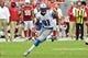 Sep 15, 2013; Phoenix, AZ, USA; Detroit Lions wide receiver Calvin Johnson (81) during the game against the Arizona Cardinals at University of Phoenix Stadium. Mandatory Credit: Matt Kartozian-USA TODAY Sports