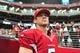 Sep 15, 2013; Phoenix, AZ, USA; Arizona Cardinals quarterback Drew Stanton (5) during the game against the Detroit Lions at University of Phoenix Stadium. Mandatory Credit: Matt Kartozian-USA TODAY Sports