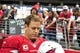 Sep 15, 2013; Phoenix, AZ, USA; Arizona Cardinals quarterback Carson Palmer (3) during the game against the Detroit Lions at University of Phoenix Stadium. Mandatory Credit: Matt Kartozian-USA TODAY Sports