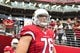 Sep 15, 2013; Phoenix, AZ, USA; Arizona Cardinals offensive tackle Nate Potter (76) during the game against the Detroit Lions at University of Phoenix Stadium. Mandatory Credit: Matt Kartozian-USA TODAY Sports
