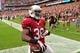 Sep 15, 2013; Phoenix, AZ, USA; Arizona Cardinals running back Andre Ellington (38) scores a touchdown during the game against the Detroit Lions at University of Phoenix Stadium. Mandatory Credit: Matt Kartozian-USA TODAY Sports