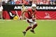 Sep 15, 2013; Phoenix, AZ, USA; Arizona Cardinals wide receiver Larry Fitzgerald (11) during the game against the Detroit Lions at University of Phoenix Stadium. Mandatory Credit: Matt Kartozian-USA TODAY Sports
