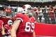 Sep 15, 2013; Phoenix, AZ, USA; Arizona Cardinals tackle Mike Gibson (69) during the game against the Detroit Lions at University of Phoenix Stadium. Mandatory Credit: Matt Kartozian-USA TODAY Sports