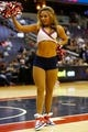 Oct 8, 2013; Washington, DC, USA; Washington Wizards girls dance on the court during a stoppage in play against the Brooklyn Nets at Verizon Center. Mandatory Credit: Geoff Burke-USA TODAY Sports