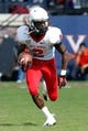Oct 5, 2013; Charlottesville, VA, USA; Ball State Cardinals wide receiver Jamill Smith (2) runs with the ball against the Virginia Cavaliers at Scott Stadium. Mandatory Credit: Geoff Burke-USA TODAY Sports