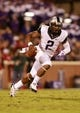 Oct 5, 2013; Norman, OK, USA; TCU Horned Frogs quarterback Trevone Boykin (2) runs with the ball against the Oklahoma Sooners at Gaylord Family - Oklahoma Memorial Stadium. The Oklahoma Sooners beat the TCU Horned Frogs 20-17. Mandatory Credit: Tim Heitman-USA TODAY Sports
