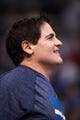 Oct 7, 2013; Dallas, TX, USA; Dallas Mavericks owner Mark Cuban watches the game between the Mavericks and the New Orleans Pelicans at the American Airlines Center. The Pelicans defeated the Mavericks 94-92. Mandatory Credit: Jerome Miron-USA TODAY Sports