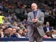 Oct 7, 2013; Dallas, TX, USA; Dallas Mavericks head coach Rick Carlisle reacts to a call during the game against the New Orleans Pelicans at the American Airlines Center. The Pelicans defeated the Mavericks 94-92. Mandatory Credit: Jerome Miron-USA TODAY Sports