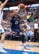 Oct 7, 2013; Dallas, TX, USA; New Orleans Pelicans power forward Anthony Davis (23) drives to the basket during the game against the Dallas Mavericks at the American Airlines Center. The Pelicans defeated the Mavericks 94-92. Mandatory Credit: Jerome Miron-USA TODAY Sports