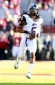 Oct 5, 2013; Norman, OK, USA; TCU Horned Frogs cornerback Jason Verrett (2) warms up before the game against the Oklahoma Sooners at Gaylord Family - Oklahoma Memorial Stadium. The Oklahoma Sooners beat the TCU Horned Frogs 20-17. Mandatory Credit: Tim Heitman-USA TODAY Sports