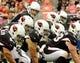 Oct 6, 2013; Phoenix, AZ, USA; Arizona Cardinals quarterback Carson Palmer (3) under center during the first quarter against the Carolina Panthers at University of Phoenix Stadium. The Cardinals beat the Panthers 22-6. Mandatory Credit: Casey Sapio-USA TODAY Sports