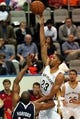 Oct 13, 2013; Biloxi, MS, USA; New Orleans Pelicans power forward Anthony Davis (23) shoots over Atlanta Hawks power forward Al Horford (15) during the first half of their game at the Mississippi Coast Coliseum. Mandatory Credit: Chuck Cook-USA TODAY Sports