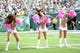 Oct 13, 2013; East Rutherford, NJ, USA; New York Jets cheerleaders perform against the Pittsburgh Steelers during the first half at MetLife Stadium. The Steelers won the game 19-6. Mandatory Credit: Joe Camporeale-USA TODAY Sports