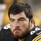 Sep 22, 2013; Pittsburgh, PA, USA; Pittsburgh Steelers guard David DeCastro (66) on the sidelines against the Chicago Bears during the fourth quarter at Heinz Field. The Bears won 40-23. Mandatory Credit: Charles LeClaire-USA TODAY Sports
