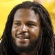 Sep 22, 2013; Pittsburgh, PA, USA; Pittsburgh Steelers outside linebacker Jarvis Jones (95) reacts on the sidelines against the Chicago Bears during the fourth quarter at Heinz Field. The Bears won 40-23. Mandatory Credit: Charles LeClaire-USA TODAY Sports