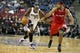 Oct 14, 2013; Sacramento, CA, USA; Sacramento Kings small forward Travis Outlaw (25) fouls Los Angeles Clippers shooting guard Jared Dudley (9) during the fourth quarter at Sleep Train Arena. The Sacramento Kings defeated the Los Angeles Clippers 99-88. Mandatory Credit: Kelley L Cox-USA TODAY Sports