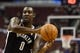 Oct 14, 2013; Philadelphia, PA, USA; Brooklyn Nets forward Andray Blatche (0) passes the ball during the third quarter against the Philadelphia 76ers at Wells Fargo Center. The Nets defeated the Sixers 127-97. Mandatory Credit: Howard Smith-USA TODAY Sports