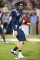 Oct 12, 2013; Oxford, MS, USA; Mississippi Rebels quarterback Bo Wallace (14) during the game against the Texas A&M Aggies at Vaught-Hemingway Stadium. Texas A&M Aggies defeated the Mississippi Rebels 41-48.  Mandatory Credit: Spruce Derden-USA TODAY Sports