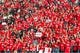 Oct 12, 2013; Salt Lake City, UT, USA; Utah Utes fans during the first half against the Stanford Cardinal at Rice-Eccles Stadium. Utah defeated Stanford 27-21. Mandatory Credit: Russ Isabella-USA TODAY Sports