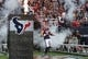 Oct 13, 2013; Houston, TX, USA; Houston Texans defensive end J.J. Watt (99) runs onto the field before a game against the St. Louis Rams at Reliant Stadium. Mandatory Credit: Troy Taormina-USA TODAY Sports