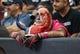 Oct 13, 2013; Houston, TX, USA; Houston Texans fan Chris Lockridge watches during the third quarter against the St. Louis Rams at Reliant Stadium. Mandatory Credit: Troy Taormina-USA TODAY Sports