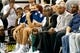 Oct 12, 2013; Salt Lake City, UT, USA; Utah Jazz head coach Tyrone Corbin watches the game during the fourth quarter at EnergySolutions Arena. The Los Angeles Clippers won 106-74.  Mandatory Credit: Chris Nicoll-USA TODAY Sports