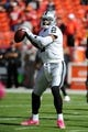 Oct 13, 2013; Kansas City, MO, USA; Oakland Raiders quarterback Terrelle Pryor (2) warms up before the game against the Kansas City Chiefs at Arrowhead Stadium. The Chiefs won 24-7. Mandatory Credit: Denny Medley-USA TODAY Sports