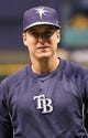 Oct 7, 2013; St. Petersburg, FL, USA; Tampa Bay Rays left fielder Kelly Johnson (2) against the Boston Red Sox works out prior to game three of the American League divisional series at Tropicana Field. Mandatory Credit: Kim Klement-USA TODAY Sports