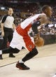 Oct 16, 2013; Toronto, Ontario, CAN; Toronto Raptors guard Terrence Ross (31) carries the ball against the Boston Celtics at Air Canada Centre. Toronto defeated Boston 99-97. Mandatory Credit: John E. Sokolowski-USA TODAY Sports