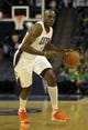 Oct 17, 2013; Charlotte, NC, USA; Charlotte Bobcats forward Anthony Tolliver (43) drives down the court during the pre season game against the Philadelphia 76ers at Time Warner Cable Arena. Bobcats win 110-84. Mandatory Credit: Sam Sharpe-USA TODAY Sports