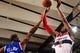 Oct 17, 2013; Baltimore, MD, USA; Washington Wizards guard John Wall (right) shoots the ball over New York Knicks guard Raymond Felton (left) at Baltimore Arena. Mandatory Credit: Evan Habeeb-USA TODAY Sports
