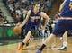 Oct 17, 2013; Sacramento, CA, USA; Phoenix Suns point guard Goran Dragic (1) drives to the basket against the Sacramento Kings during the first quarter at Sleep Train Arena. Mandatory Credit: Ed Szczepanski-USA TODAY Sports